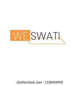 """We Swati"" Vector Logo Illustration.White Backround.Premium Quality."