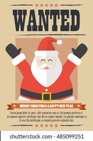 6a345c9947cec4 We want santa claus. wanted western poster