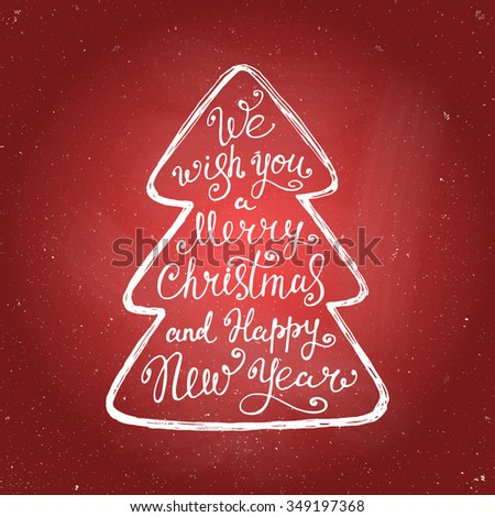 we wish you a merry christmas and happy new year quote in a christmas tree - Merry Christmas And Happy New Year Quotes