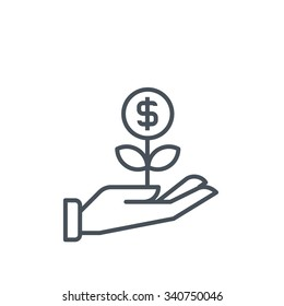Wealth icon suitable for info graphics, websites and print media and  interfaces. Line vector icon.