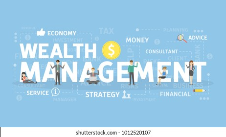 Wealth management concept illustration. Idea of savings and investment.