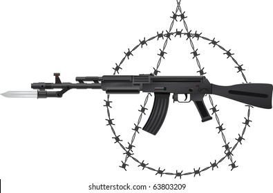 Weapon of anarchy. vector illustration