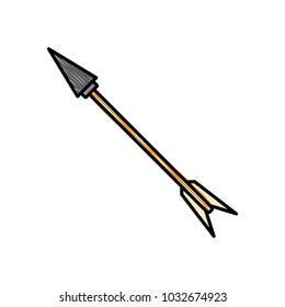 Weapon arrow symbol vector illustration