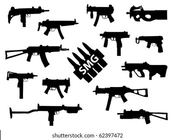 Weapon collection, submachine guns