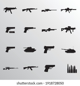 weapon icon set ,symbol and vector,Can be used for web, print and mobile