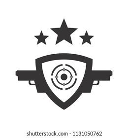 Weapon logo. Gun Icon.  Rifle and Pistol symbol. Vector eps 08.