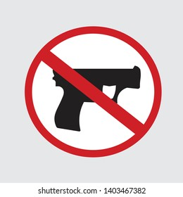 """Weapon prohibited icon. Forbidding Vector Signs """"No weapons"""""""