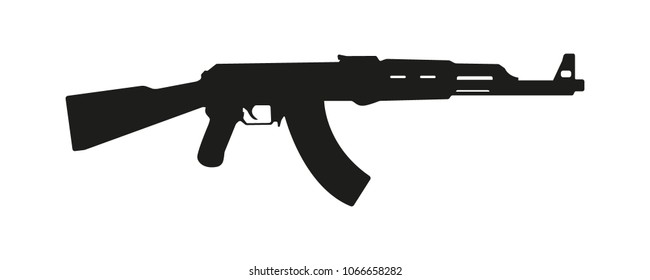 weapon rifle ak 47 vector silhouette
