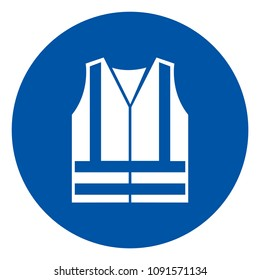 Wear High Visibilty Clothing Symbol, Vector Illustration, Isolate White Background Icon. EPS10