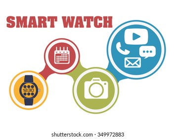 Wearable technology concept with gadget design, vector illustration 10 eps graphic.