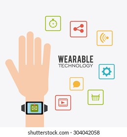 Wearable technology design, vector illustration eps 10.