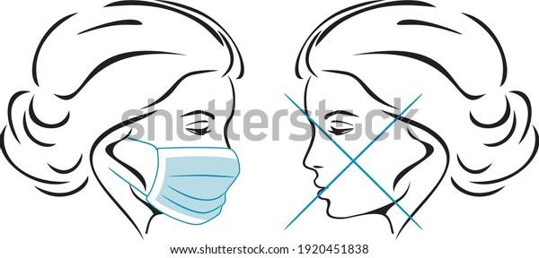 wearing-medical-mask-sign-sticker-600w-1