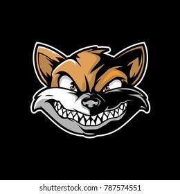 weasel cartoon head vector