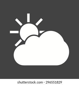 Weather, cloud, sun, icon vector image. Can also be used for mobile apps, phone tab bar and settings. Suitable for use on web apps, mobile apps and print media