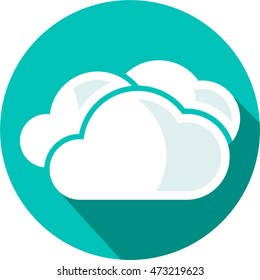 Weather flat icon cloud