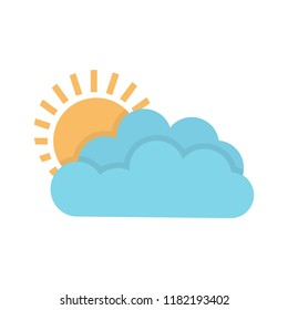 weather forecast icon, seasons clouds label, cloudy, weather forecast on white background, seasons clouds logo, vector artwork
