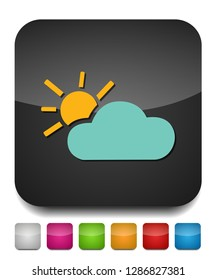 weather forecast icon, seasons clouds