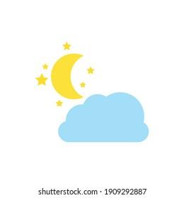 Weather forecast icons include,rainy season,rainstorm, thunder,lightning, winter,snowing, cold weather, summer,rising sun,clear weather,hot weather,spring, night,moon,stars. Vector illustration
