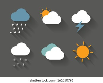 weather forecast icons vector/illustration