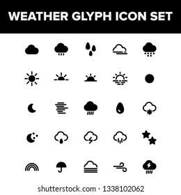 Weather Glyph Icon Set For Your Mobile App, Website & Printable Design