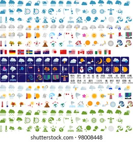 Weather graphic design elements (vector)