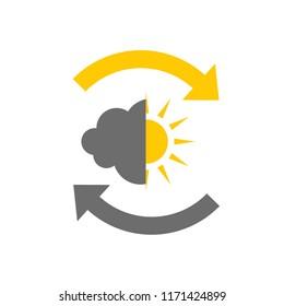 Weather icon for bipolar disorder flat design. Vector illustration