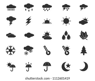 weather icon design illustration,glyph style design, designed for web and app