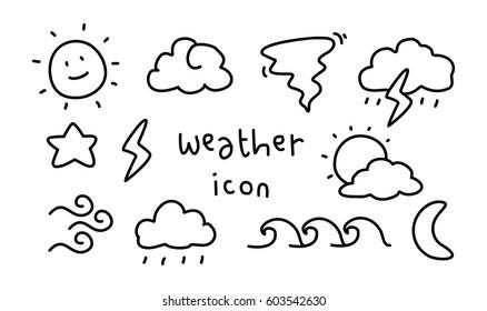 weather icon doodle