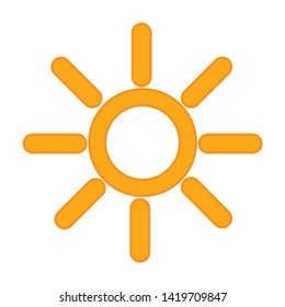 weather icon. flat illustration of weather vector icon for web