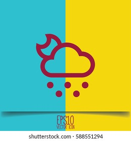 Weather icon. Flat style for graphic and web design, Modern simple vector sign. Internet concept.