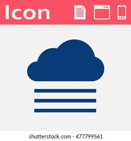 Weather icon of fog and cloud. Foggy illustration