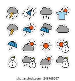 Weather icon set / vector illustration