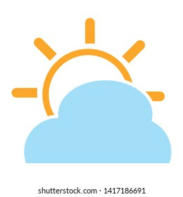 weather icon. Sun sign icon. forecast icon - cloudy weather