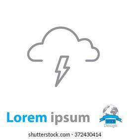 weather icon (thunderstorm)