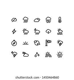 Weather icons in for any purposes. Perfect for website mobile app presentation and any other projects.