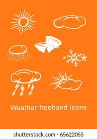 Weather icons background