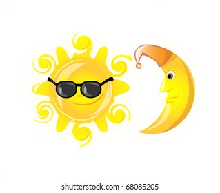 Weather icons  eps 10 sun glasses isolated on white background