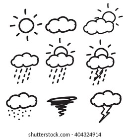 weather icons ,Hand drawn icons