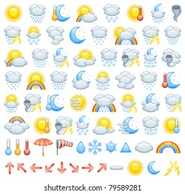 Weather icons and parts to create Your own icons