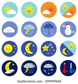 weather icons / vector EPS 10 illustration