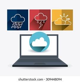 Weather mobile app design, vector illustration eps 10.