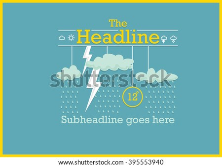 weather report template design weather icon stock vector royalty