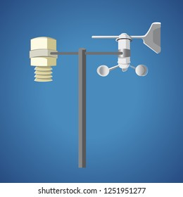 Weather Station isolated - vector illustration