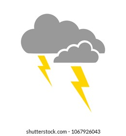 weather storm illustration,  sun rain symbol - weather storm icon