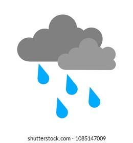 weather storm illustration,  sun rain symbol - weather storm icon