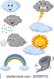 Weather symbol cartoon