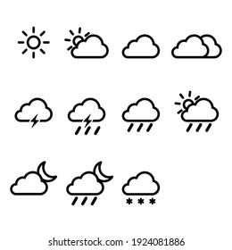 weather symbol sign icon vector