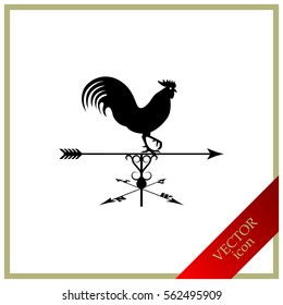 Weather Vane, rooster, silhouette
