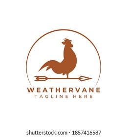 Weather vane, wind vane logo vector illustration template design, creative weathercock logo
