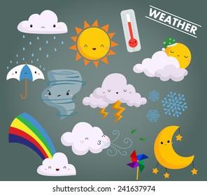 weather vector set
